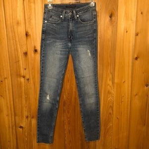 NWOT Calvin Klein Distressed High-Rise Jeans